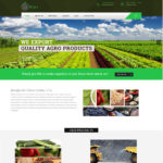 agricultural web design template