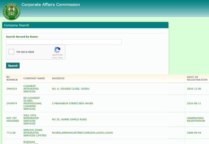 registered companies in Nigeria