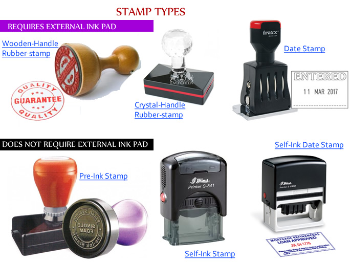 types of stamps and seal