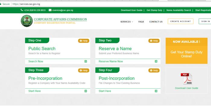 company registration verification in nigeria