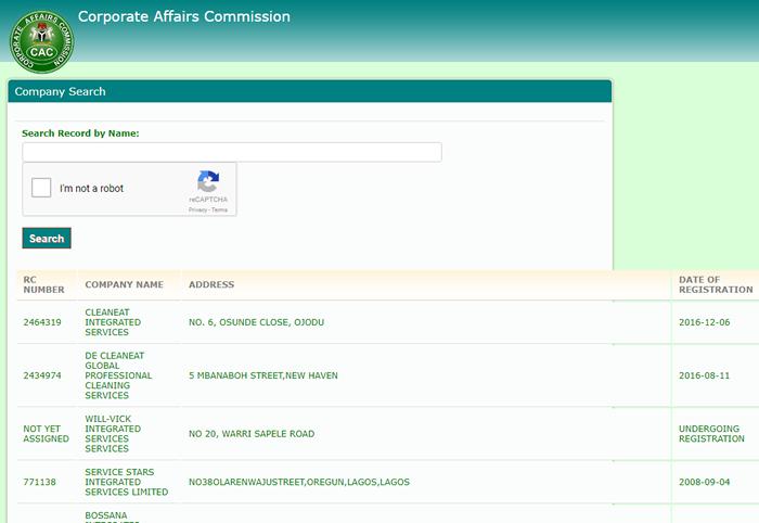 registered companies in Nigeria
